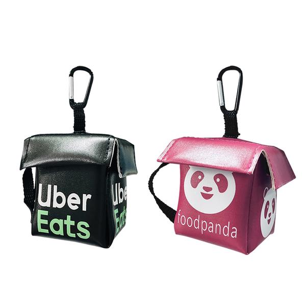 外送包 零錢包 Uber eats Foodpanda 迷你 鑰匙圈 掛飾 吊飾