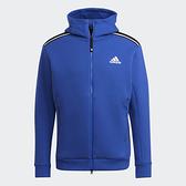 Adidas Z.N.E. 男裝 外套 連帽 吸濕排汗 拉鍊口袋 藍【運動世界】H39841