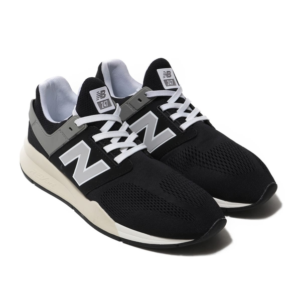 NEW BALANCE NB247系列 - 男女黑灰楦避震透氣慢跑鞋-  NO.MS247MR
