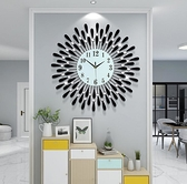 鐵藝創意 現貨 鐘表掛鐘 客廳裝飾時鐘 電子石英鐘