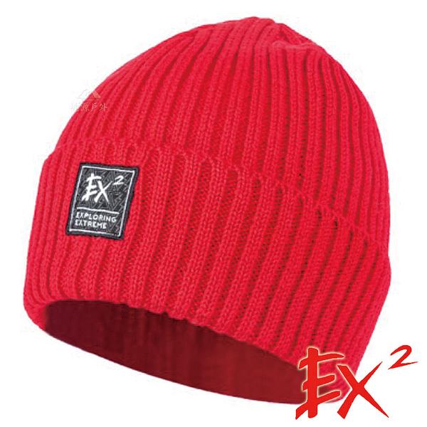【 EX2 】針織保暖圓帽『紅』366068 戶外.針織帽.造型帽.毛帽.帽子.禦寒.防寒.保暖