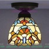 蒂凡尼燈具歐式燈具走廊陽臺吸頂燈彩色玻璃頂燈歐式巴洛克吸頂燈MY~477