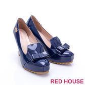 RED HOUSE-蕾赫斯-俏皮蝴蝶結漆皮高跟鞋