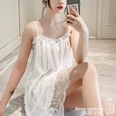 睡裙 性感睡衣女夏薄款蕾絲公主風吊帶睡裙大碼維密挑逗小胸激情誘惑騷 曼慕衣櫃 曼慕