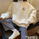 卫衣 oversize半高領衛衣女秋冬2020年新款韓版寬鬆加厚ins上衣潮 曼慕
