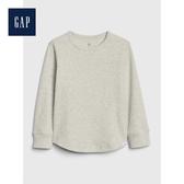 Gap男幼童紋理感針織圓領長袖T恤496350-灰色