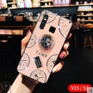 VIVO V15 Pro Z5X Z3X V11i 手機殼 軟硅膠 時鐘 磁吸 指環 支架 防摔 全包 保護殼 清新 創意 軟邊
