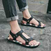夏季新款越南涼鞋男士英倫韓版涼拖防滑沙灘鞋學生外穿卡通拖鞋男 美芭