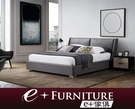 『 e+傢俱 』BB218 波利斯 Boris 現代簡約風格 | 半牛皮材質 | 加大雙人床 | 6x6.2尺 可訂製