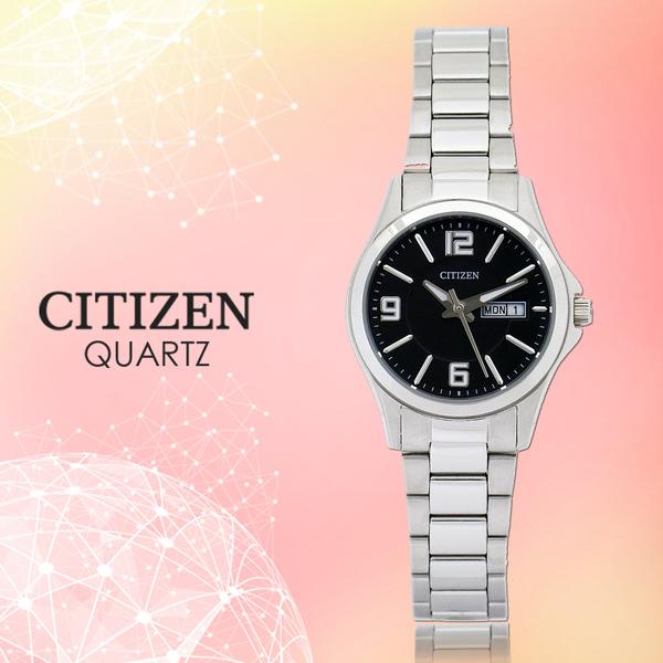 CASIO 手錶專賣店 CITIZEN星辰_EQ0591-56E_石英錶_日 期/星期_不鏽鋼_女錶