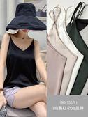 V領絲綢緞面黑色打底吊帶背心女無袖內搭打底衫外穿性感上衣女夏