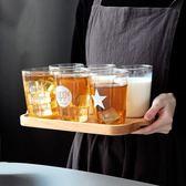 日式玻璃早餐杯 家用牛奶杯耐熱透明水杯創意果汁杯咖啡杯茶杯子 【好康八九折】