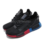 adidas 休閒鞋 NMD_R1 V2 黑 紅 藍 男鞋 女鞋 運動鞋 襪套式 【PUMP306】 FV9023