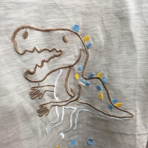 ☆棒棒糖童裝☆(A15510)秋冬男童竹節棉小恐龍長袖上衣 5-17