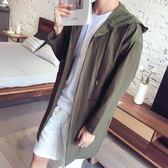 夏季超薄半透明風衣男韓版中長款外套夏天輕薄防曬衣服 奇思妙想屋