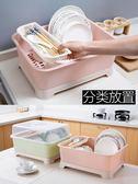 放碗架收納盒瀝水架裝碗筷收納箱 碗柜置物架