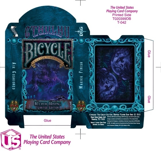 【USPCC 撲克】Cthulhu Bicycle Deck - R lyeh Rising Edition