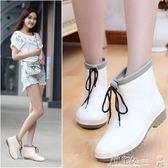 防水雨鞋 短筒時尚雨鞋女夏季成人雨靴韓國防滑水鞋女套鞋學生膠鞋中幫水靴 小宅女