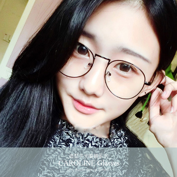《Caroline》年度最新款金屬造型時尚平光眼鏡 71990