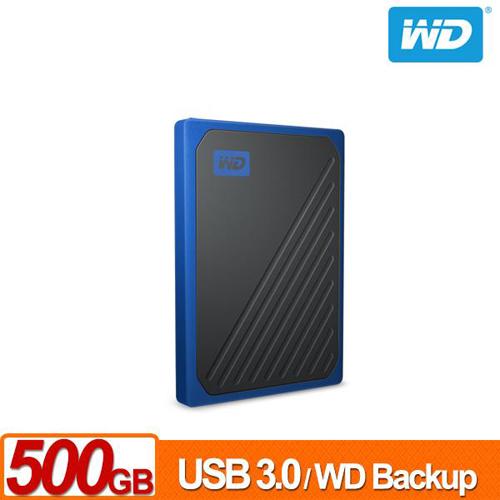 WD My Passport Go 500GB SSD (黑/電光藍) 外接式固態硬碟
