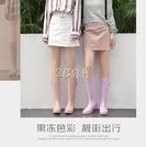 糖果色雨鞋女時尚款外穿高筒韓國水靴女士水鞋可愛晴雨靴防滑 color shop