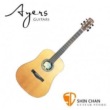 【手工民謠吉他】【Ayers D-07】【附木吉他硬盒】 【D07】