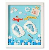 寶寶手足印泥手腳印永久胎毛紀念品自制diy新生嬰兒滿月百天禮物第七公社