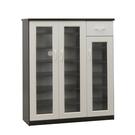 【采桔家居】麥莉 環保3.2尺塑鋼三門單抽鞋櫃/玄關櫃(4色可選)