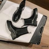 英倫風馬丁靴女潮切爾西靴春秋單靴瘦瘦短靴子【毒家貨源】