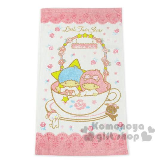 〔小禮堂〕雙子星 兒童毛巾《M.白粉.玫瑰花圈.咖啡杯》100%棉.28*54(cm) 4716171-25540