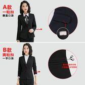 黑色小西裝西服女上衣外套面試工作服長袖工裝職業西裝外套女正裝 街頭布衣