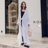 東京著衣【KODZ】知性慵懶經典襯衫領前綁結長版罩衫(190095)