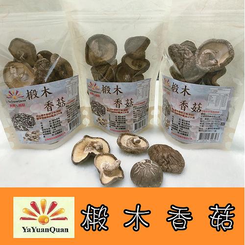 【亞源泉】埔里高山椴木香菇-大朵 80g (椴木香菇有柄捲彎形)