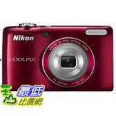[103 美國直購 ShopUSA] 相機 Nikon COOLPIX L26 16.1MPDigital Camera with 5x Zoom NIKKOR Glass Lens and 3-inch LCD (Red) $4355