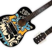 吉他 吉他初學者女男民謠個性彩繪涂鴉兒童成人30/34/36/38/4041寸吉他