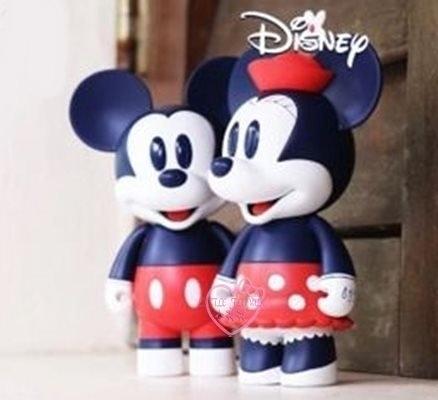 小花花日本精品迪士尼米奇米妮公仔情侶公仔居家擺飾交換禮物皆宜11706700
