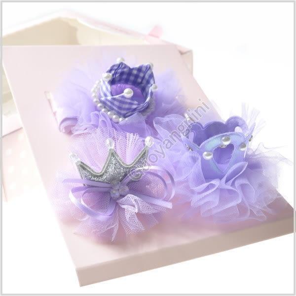 現貨 髮飾禮盒 3入 髮帶+髮夾 蝴蝶結 寶寶 嬰兒 頭帶 彌月送禮 搭配禮服 婚禮【 G5155】