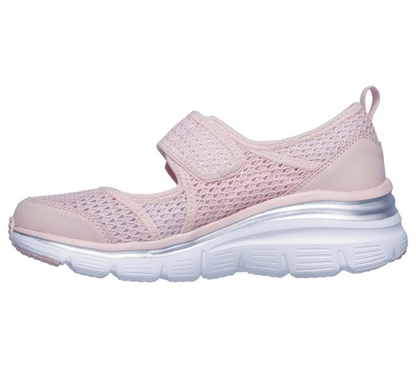 SKECHERS Fashion Fit-Breezy [13311PNK] 女鞋 休閒 運動 透氣 增高 吸震 粉白