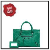 巴黎世家CITYS小黑扣手提/斜背機車包(綠色)431621全新商品