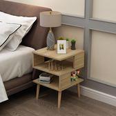 北歐簡約現代組裝臥室迷你床頭柜簡易床邊柜小茶幾40寬實木高腳款liv 聖誕交換禮物