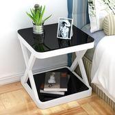 床頭柜簡約現代臥室收納小桌子創意置物柜床頭小柜組裝簡易床邊柜【米拉生活館】JY