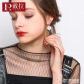 戴拉925銀針氣質2018新款潮秋冬款耳扣女 百搭高級感耳環耳釘耳飾 溫暖享家