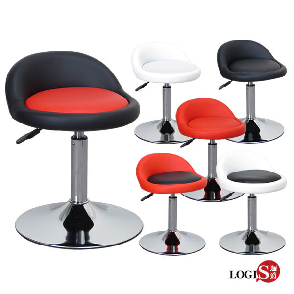 LOGIS邏爵- 低卡咪吧台椅/低吧檯椅/工作椅/美容椅/休閒椅/美髮椅 7色 029A0