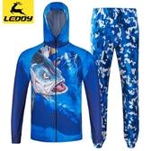 樂迪冰絲釣魚服套裝夏季防曬衣服 男款防蚊透氣速干迷彩垂釣服裝