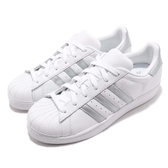【六折特賣】adidas 休閒鞋 Superstar W 白 銀 小白鞋 貝殼頭 女鞋 百搭款 運動鞋【PUMP306】 D97998