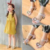 韓版女童涼鞋高跟小女孩中大童公主鞋兒童涼鞋女童鞋吾本良品
