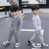 兒童西裝套裝2019新款春裝男童西服外套帥氣小男孩韓版禮服三件套