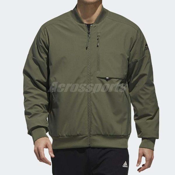 adidas 飛行夾克 ID Jacket WV Warm 軍綠 保暖外套 男款 【PUMP306】 DZ2429