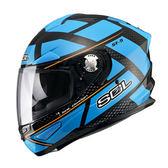 【SOL SF-5 SF5 阿爾法 ALPHA   黑藍 全罩 安全帽 】內襯全可拆、內藏鏡片、免運+好禮