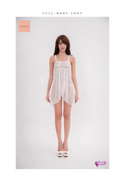 【性感寶盒】★性感睡衣 純白花嫁平口蕾絲柔紗二件式睡衣★白┌NA16020065